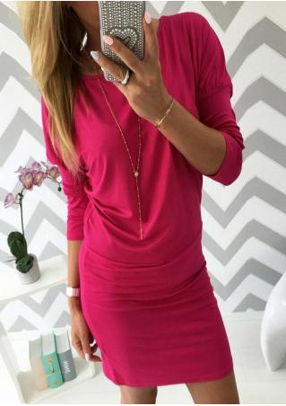Solid Casual Dress Without Necklace