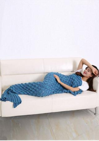 Crochet Fish Scale Mermaid Tail Design Blanket