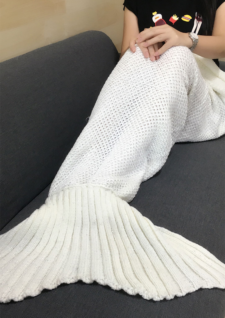 Mermaid Tail Blanket For Sale: Sequined Embellished Mermaid Tail Blanket