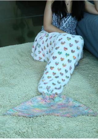 Christmas Heart Mermaid Tail Blanket