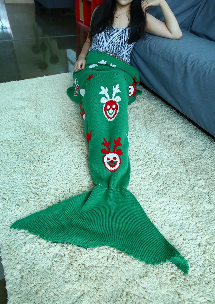 reindeer tail template - christmas reindeer pattern mermaid tail blanket bellelily