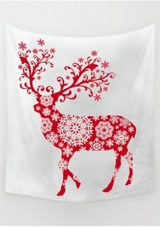 Christmas Reindeer Printed Rectangle Tapestry