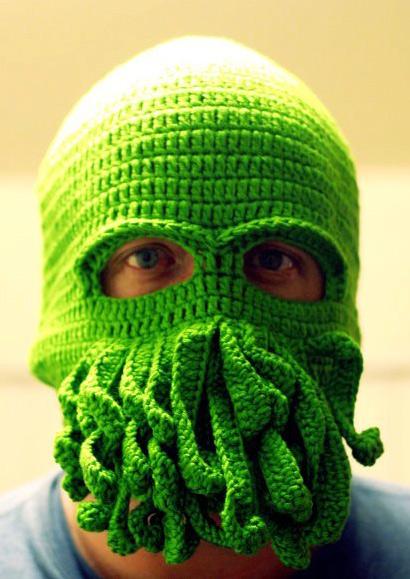 Cthulhu Crochet Ski Mask Hat Bellelily