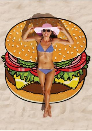 Hamburger Printed Beach Blanket