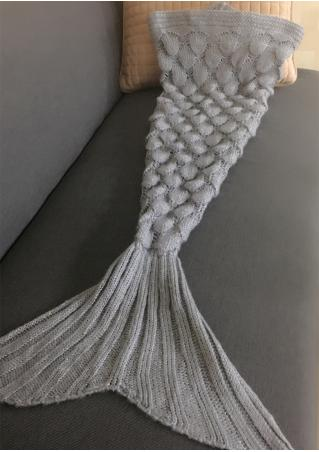 Mermaid Fish Scale Blanket For Kid