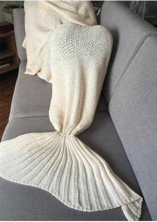 Sequined Mermaid Tail Design Blanket