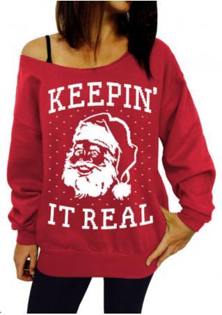 Santa Christmas Knitted Casual Sweatshirt
