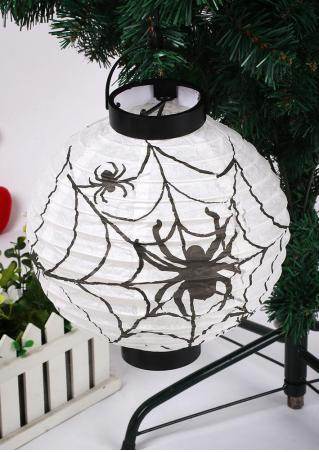 Halloween LED Paper Pumpkin Bat Spider Hanging Lantern