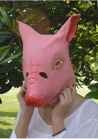 Creepy Pig Head Halloween Costume  Mask