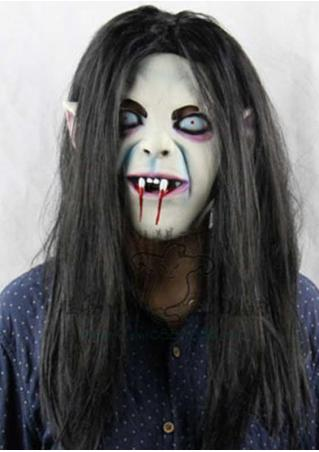 Scary Long Hair SADAKO Ghost Halloween Mask