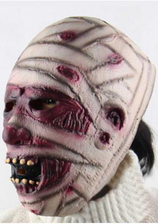 Scary Halloween Rubber Grimace Monster Mummy Mask