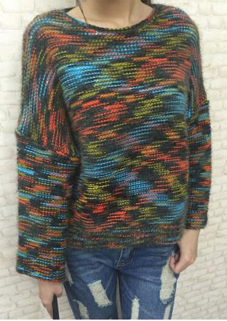 Multicolor O-Neck Sweater