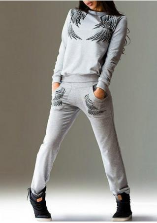 Wings Printed Casual Sport Set