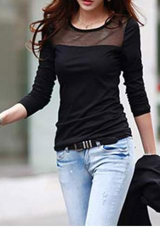 Scoop Neck Long Sleeve T-Shirt