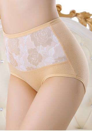 Floral High Waist Panties