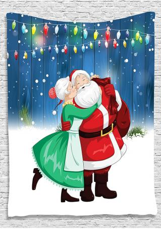 Christmas Santa Claus Printed Rectangle Tapestry