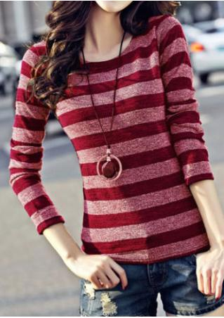 Striped Sweater Without Necklace