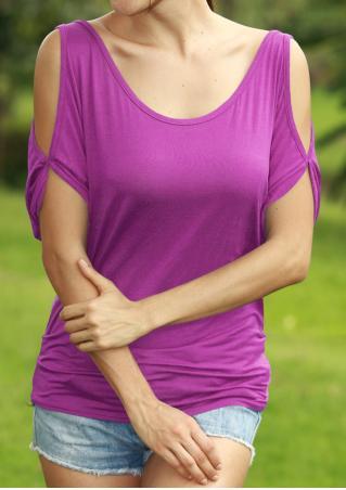 Solid Off Shoulder Half Sleeve Trendy Blouse