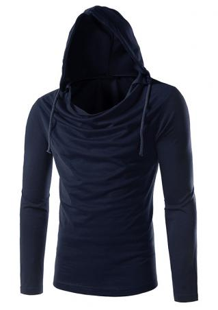 Solid Hooded T-Shirt