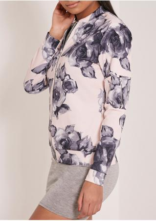 Floral Printed Long Sleeve Jacket