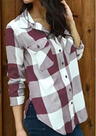 Plaid Button Long Sleeve Shirt