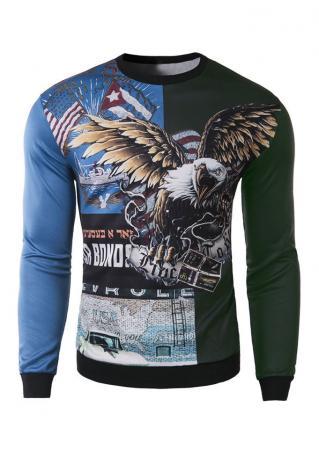 3D Eagle Printed Sweatshirt