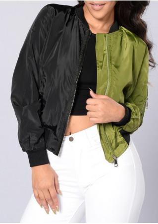 Color BlockTwo Faced Bomber Jacket