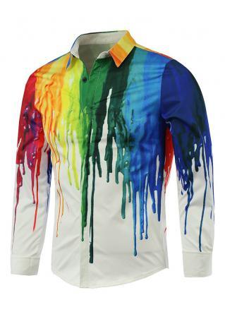 Tie Dye Printed Casual Shirt