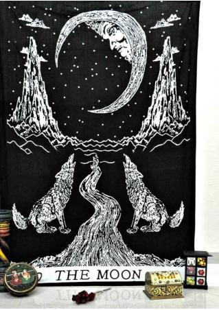 Crying Wolf The Moon Tarot Tapestry
