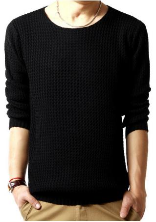 Solid Knitted Sweater
