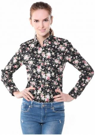 Floral Long Sleeve Fashion Shirt
