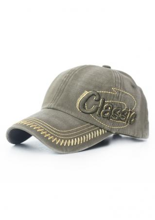 Embroidery Letter Casual Baseball Cap