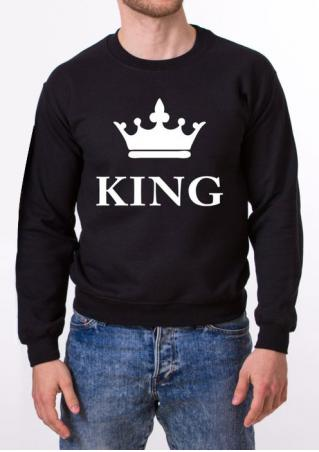 KING Letter Printed Sweatshirt