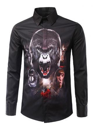 Animal Printed Button Shirt