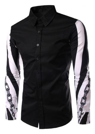 Chain Printed Long Sleeve Shirt