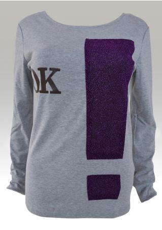 OK Printed Long Sleeve T-Shirt