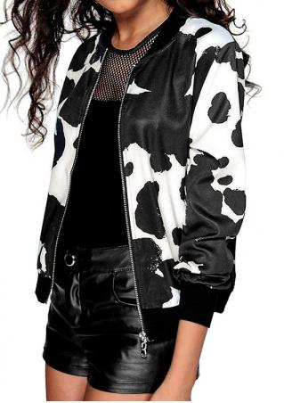 Splash-Ink Printed Jacket