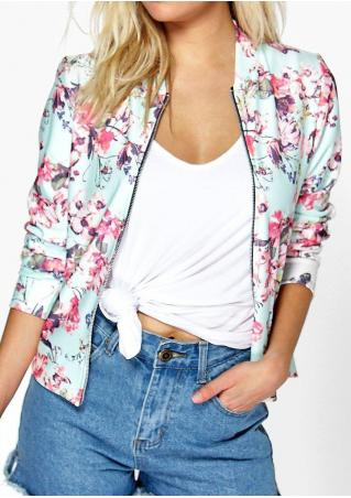 Floral Printed Casual Jacket