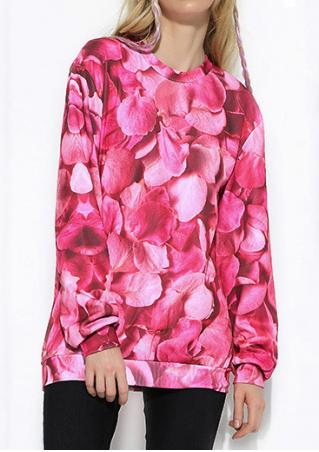 Rose Petals Printed Sweatshirt
