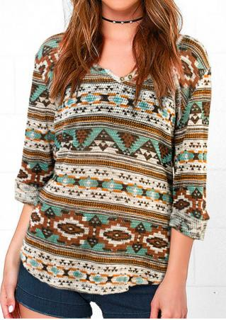 Printed Slim Sweater Without Necklace