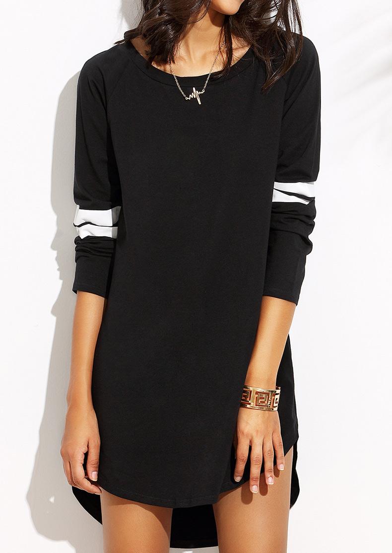 Color Block Mini Dress Without Necklace 24329