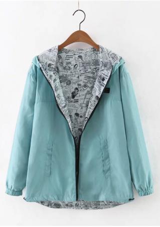 Solid Pocket Zipper Jacket