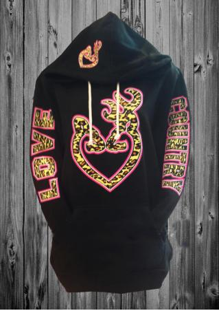 Heart Letter Printed Casual Hoodie