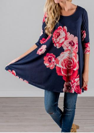 Floral Printed Loose Blouse