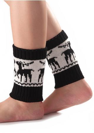 Christmas Reindeer Printed Casul Socks
