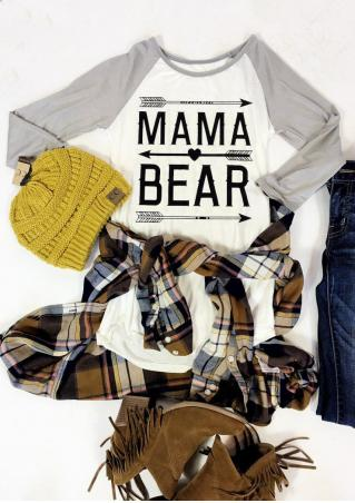 MAMA BEAR Arrow Printed T-Shirt