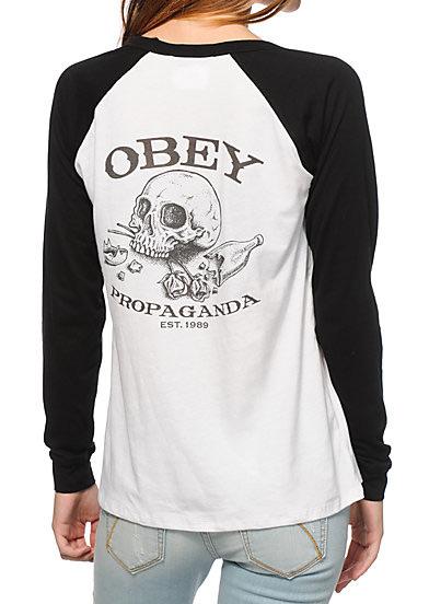 Skull Letter Printed Splicing Long Sleeve T-Shirt