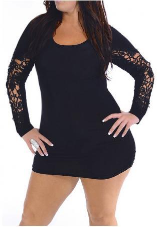 Hollow Out Plus Size Mini Dress