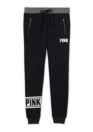 PINK Printed Zipper Sport Pants
