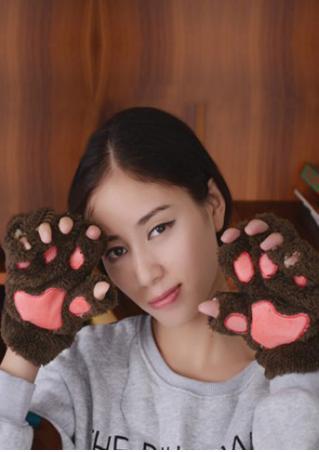 Paw Soft Fingerless Gloves